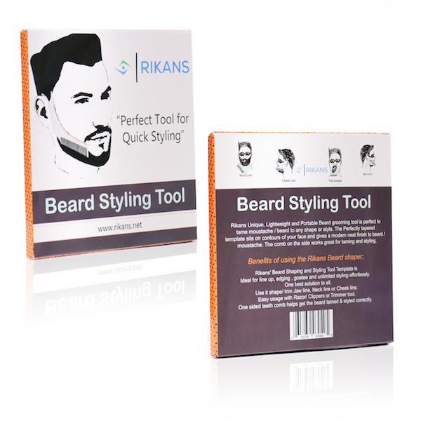 beard comb styling and shaping tool template rikans